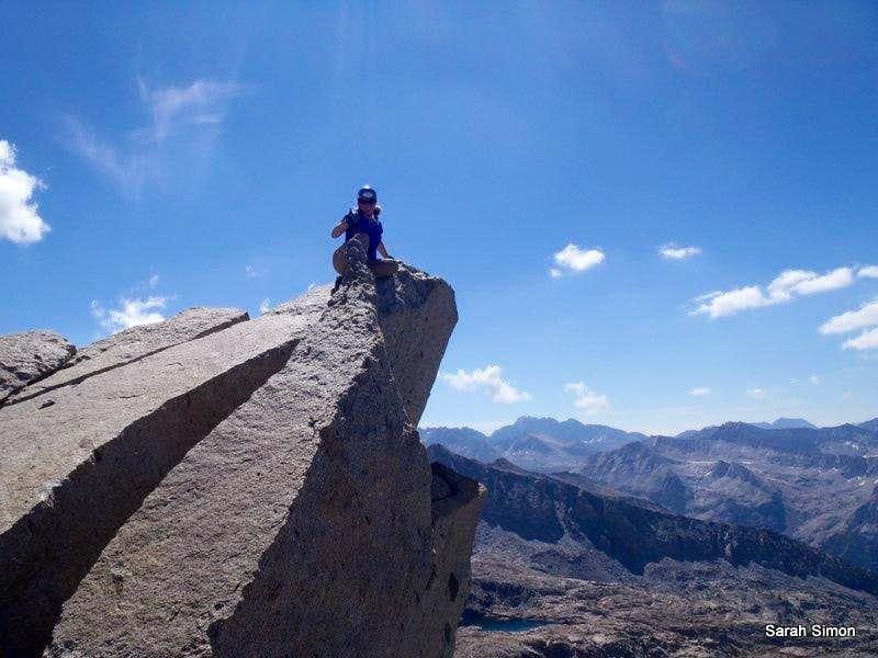 On the summit of Columbine Peak