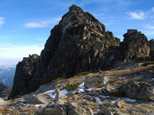 McClellan Peak summit block