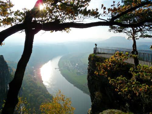 Bastei viewpoint, Saxonian Switzerland, Germany