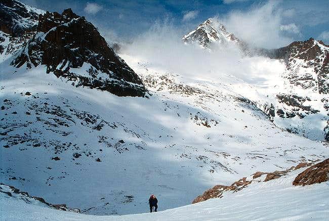 Climbing the Longs Peak...