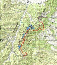 Map of Under The Rim Trail