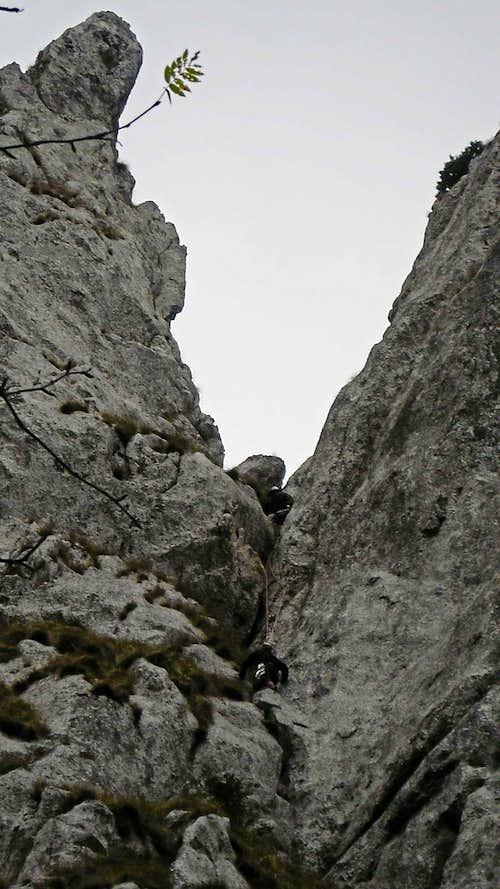 Climbing Corner Crack