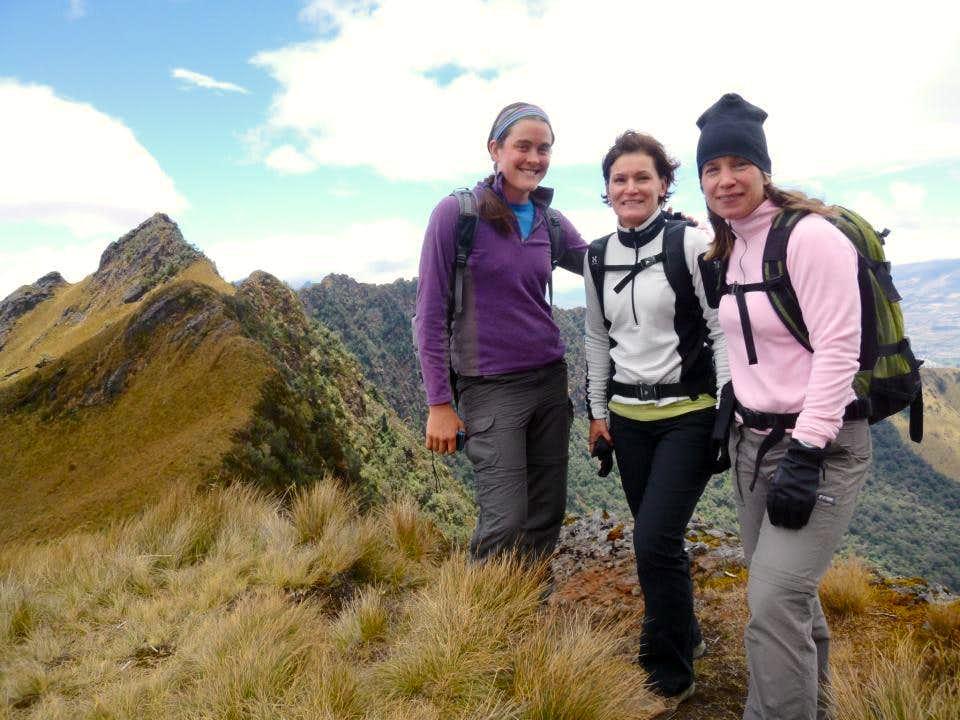 Me, Taina, and Mia on Pasochoa