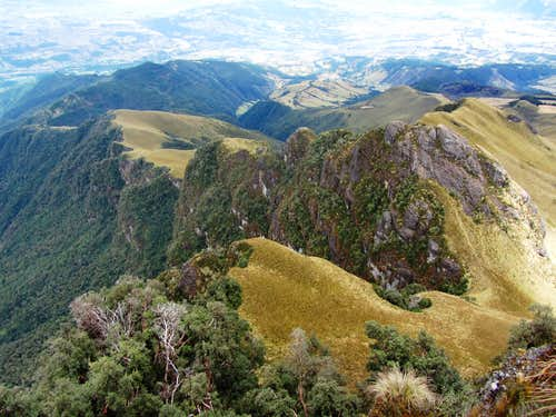 View from the summit of Pasochoa