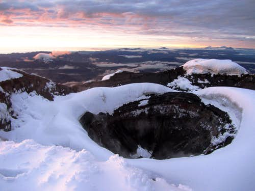 Cotopaxi's crater