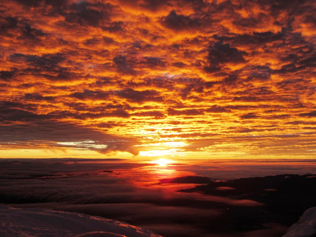 Sunrise on Cotopaxi