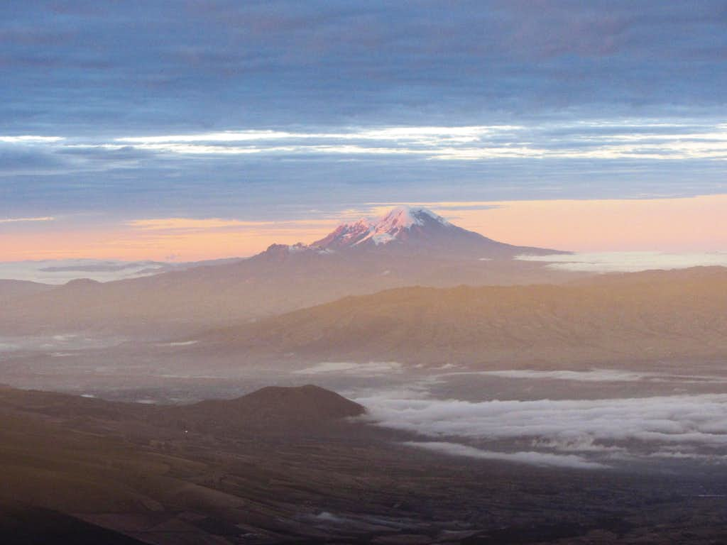 Chimborazo from Cotopaxi's summit