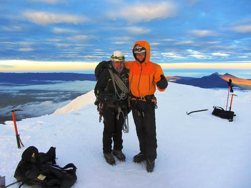 William and Jose on Cotopaxi's summit