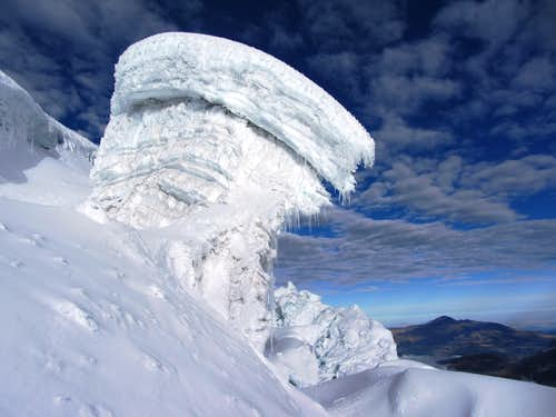 Giant serac on Cotopaxi
