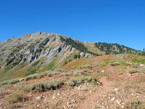 From the trail, North Peak is...