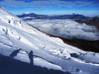 heading down Cotopaxi
