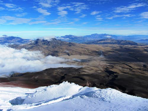 view from Cotopaxi