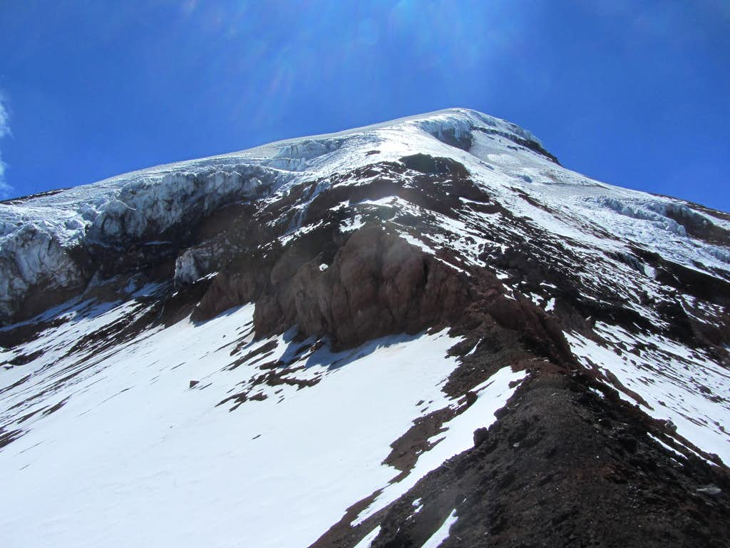 Some of the upper route on Chimborazo