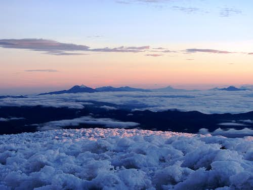 Sunrise from the Veintimilla Summit on Chimborazo
