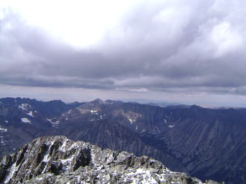 View north from the summit of Crazy Peak