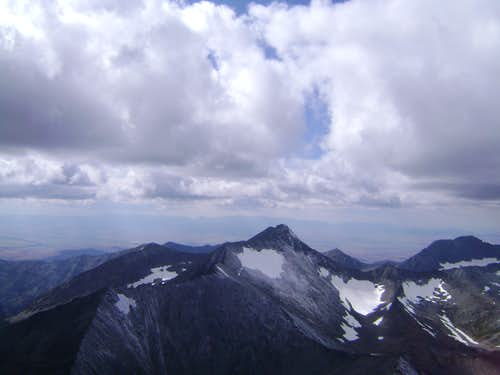 View to the west from the summit of Crazy Peak