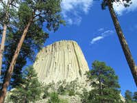 The mighty west face of Devils Tower, Wyoming