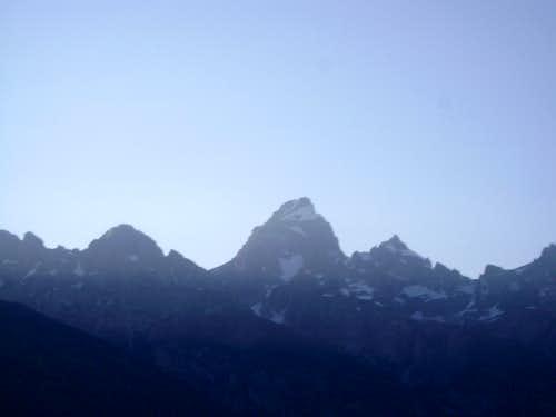 The Teton range-Evening light