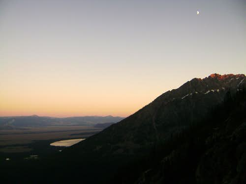 Nightfall on the CMC route-Mount Moran