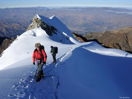 Gained horizons, Nevado Vallunaraju