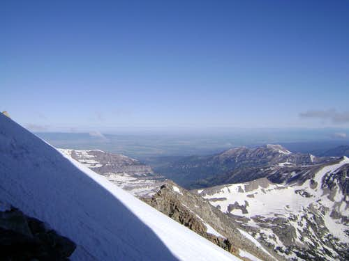 Steep snow on the South Teton