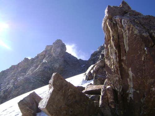 The Northwest Couloir of the South Teton