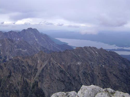 View of Mount Moran from the summit of Mount Owen