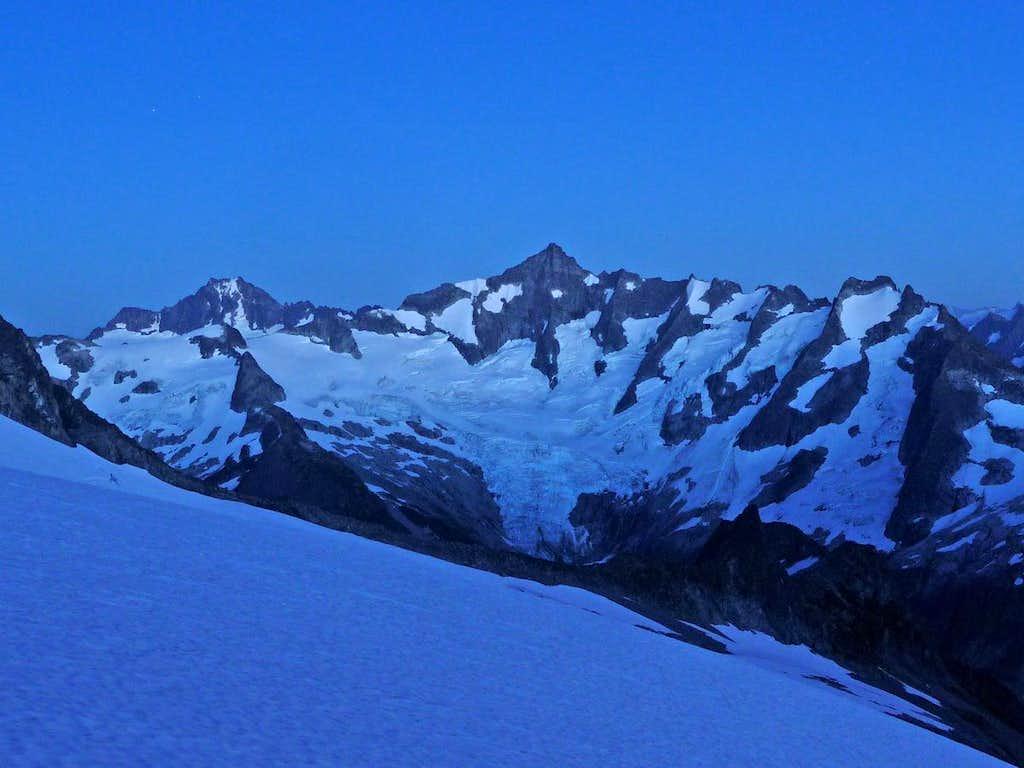 Evening Blue on Forbidden Peak