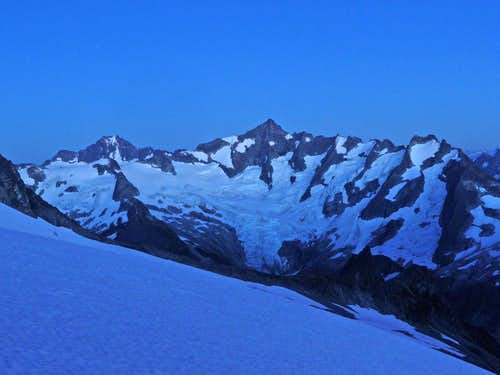 Evening Blue on Forbidden Peak
