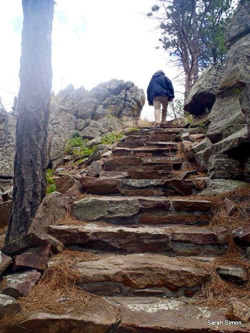 Steps on trail