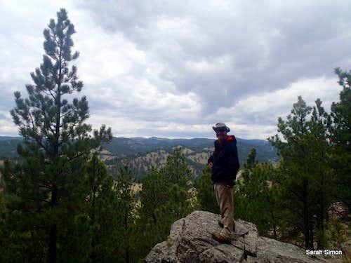 Outcrop along the trail