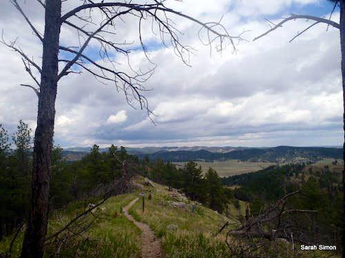 Northward summit views