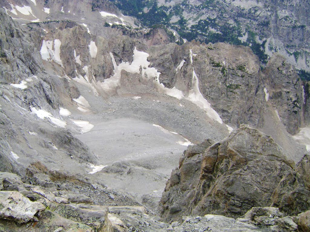 Looking down from the summit of Mount Owen