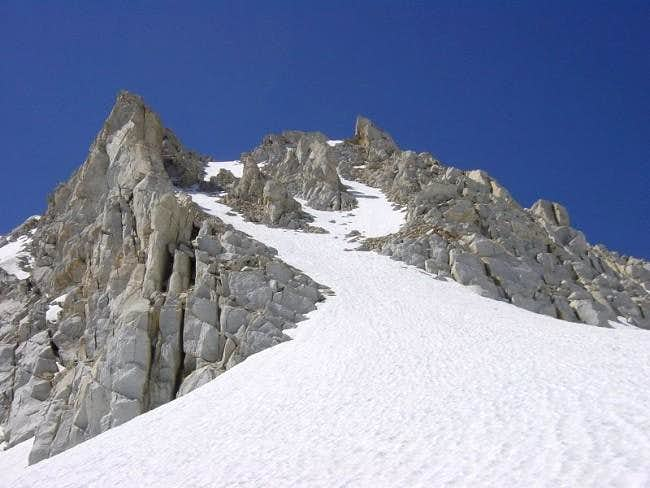 The Y Couloir seen from the...