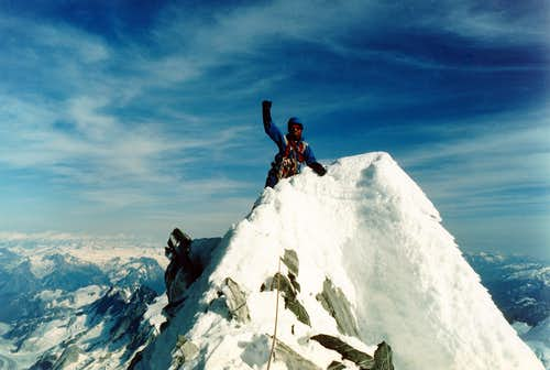 Summit of Mt. Waddington 1985