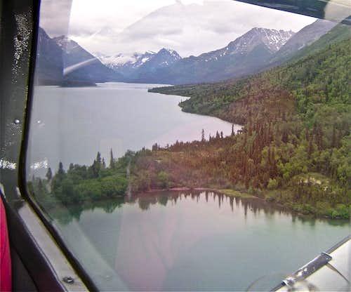 Flying into the Chigmit Mountains via floatplane-Lake Clark National Park