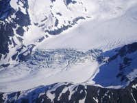 Glacier in Lake Clark National Park, in the Aleutian Range