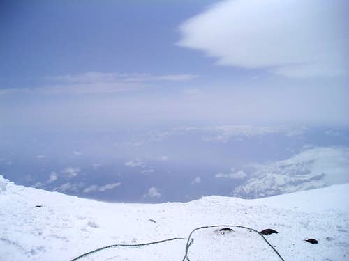 The summit crater rim of Mount Rainier