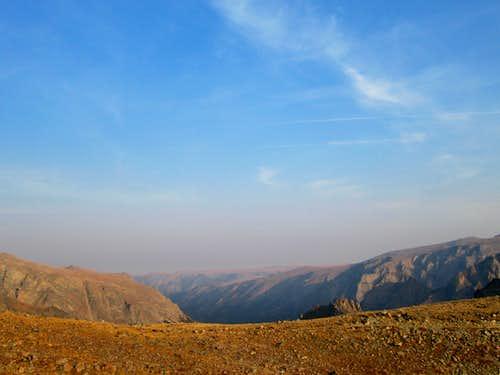 View from Sundance Pass, on the way to Castle Mountain-Beartooth Range, Montana