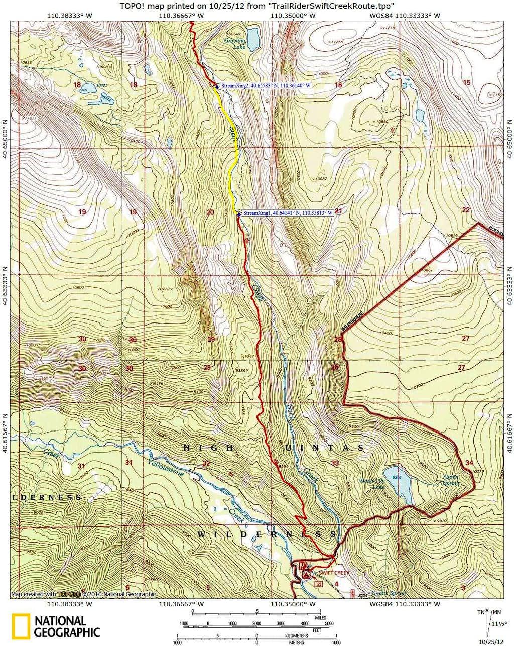 Swift Creek Topo Map 1