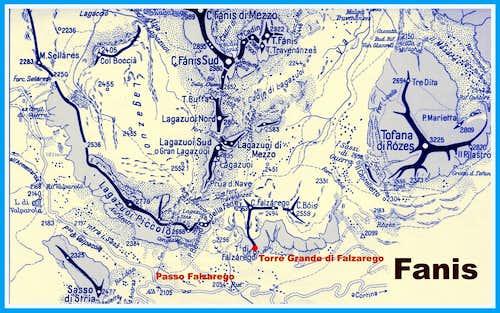 Torre Grande di Falzarego map