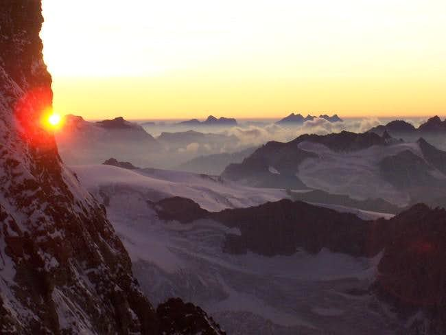 sunset from the Solvayhut at...