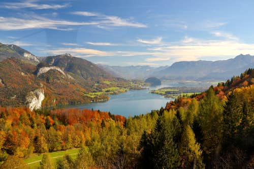 The Wolfgangsee in it's autumn glory