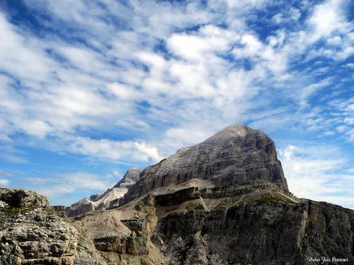 Tofana di Rozes seen from Torre Grande di Falzarego