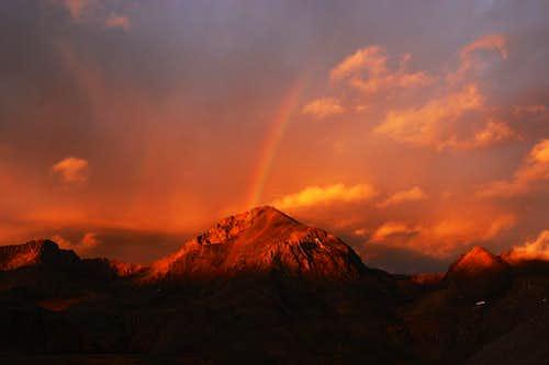 Rainbow on Mt. Goddard