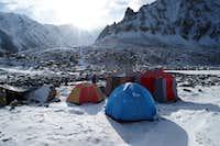 camp at lake