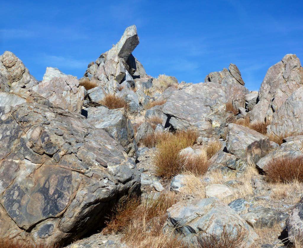Boulders below the summit