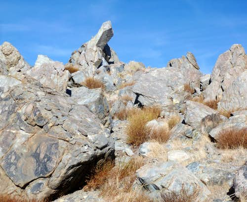 Boulders below the summit