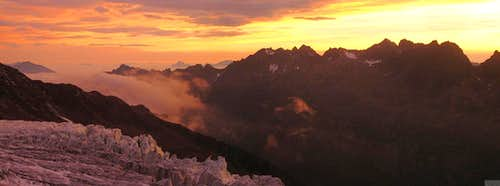 Sunset on the Aiguilles Rouges