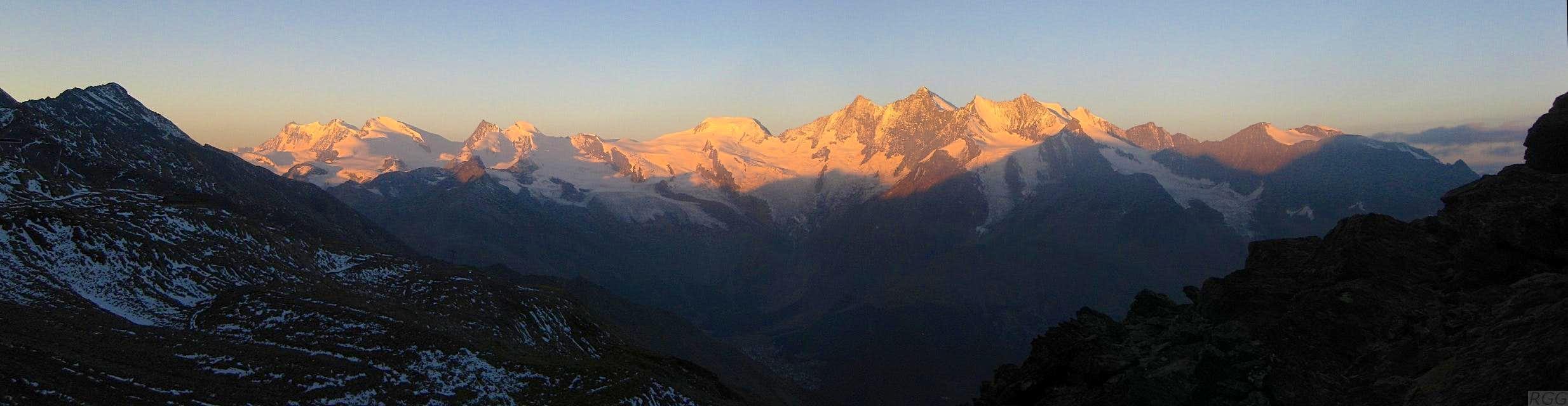 Summits above Saas